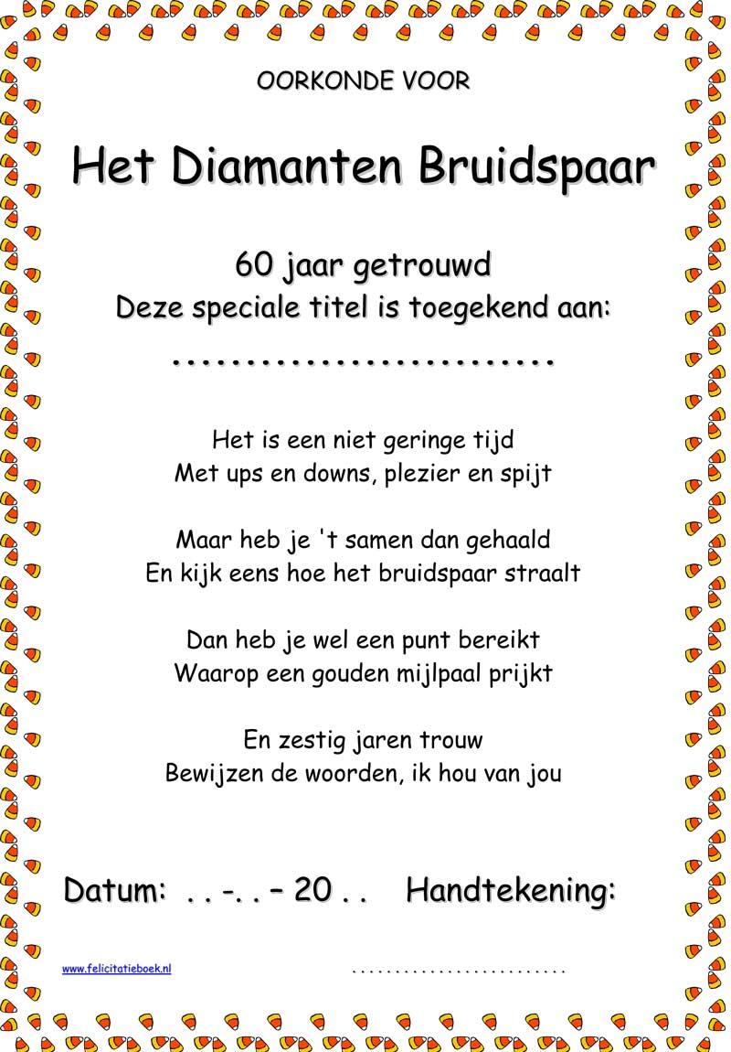 60 jaar getrouwd gedicht 60 jaar getrouwd is een diamanten bruiloft huwelijksfeest maak een  60 jaar getrouwd gedicht